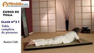 Tabla completa de posturas de Yoga por Ramiro Calle. CLASE DE YOGA 21