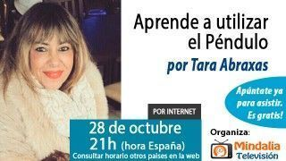 CANCELADA – 28/10/15 Aprende a utilizar el péndulo por Tara Abraxas