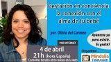 04/04/16 Gestación en conciencia: la conexión con el alma de tu bebé por Olivia del Carmen