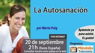 20/09/16 La Autosanación por Marta Puig