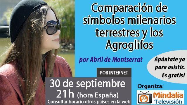 30sep16 Comparación de símbolos milenarios terrestres y los Agroglifos por Abril de Montserrat