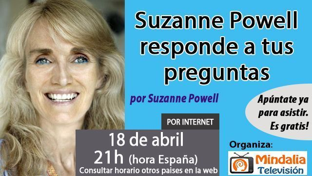 18abr17 21h Suzanne Powell responde a tus preguntas