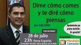 28/07/17 Dime cómo comes y te diré cómo piensas por Iván Chile