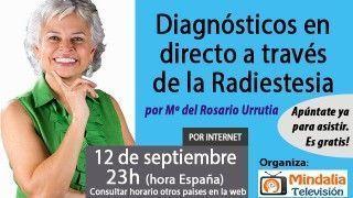 12/09/17 Diagnósticos en directo a través de la Radiestesia por María del Rosario Urrutia