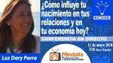 11/05/18 ¿Cómo influye tu nacimiento en tus relaciones y en tu economía hoy? por Luz Dary Parra