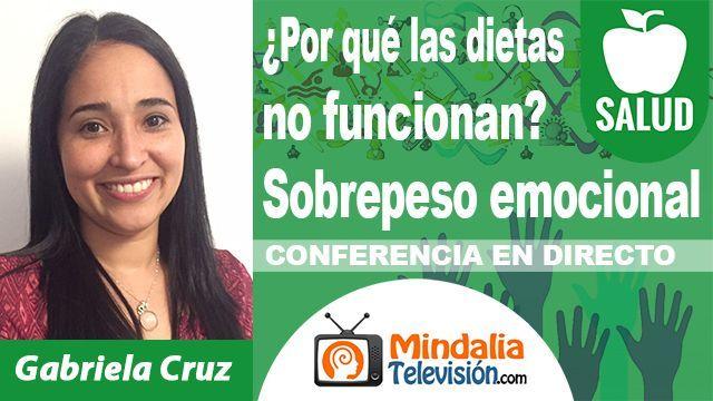 16oct18 2130h Por qué las dietas no funcionan Sobrepeso emocional por Gabriela Cruz